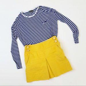 3/30$ J. Crew Mustard Yellow Mini Skirt